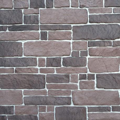 Mozaika gipsowa, styl kasztelański w kolorze od zmierzchu do świtu.