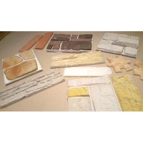 Wzorniki kolorów kamienie i cegły dekoracyjnej